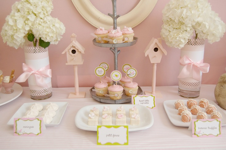 birdhouse sweet table via Southern Belles Charm.com