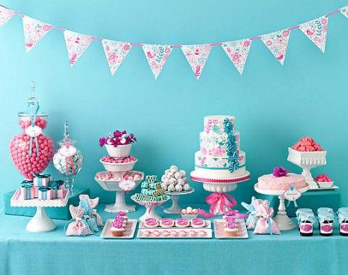 sweet table decor bunting via Amy Atlas