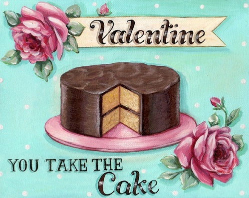 valentine's cake message you take the cake via Pinterest