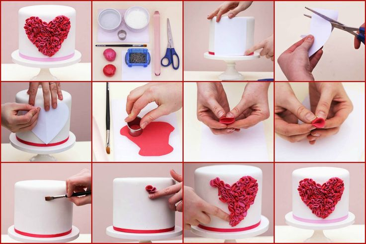 valentine's cake tutorial by Erica O'Brien