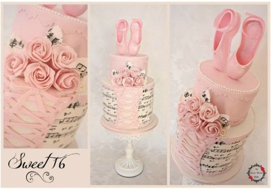 ballerina cake with ballet shoes by My Sweet Dream Cakes