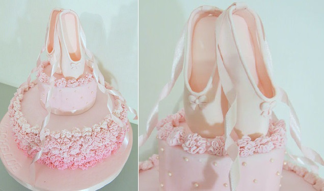 ballerina cake with ballet shoes by Sugar and Spice by NA, Lebanon