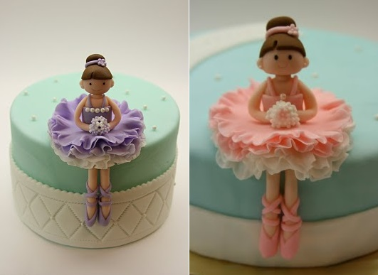 ballerina sugar models cake toppers by via A Beautiful Kitchen blog