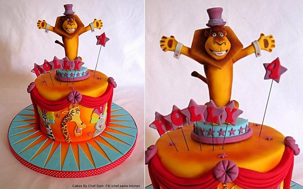 circus cake by Cakes by Chef Sam, Chef Sam's Kitchen on FB