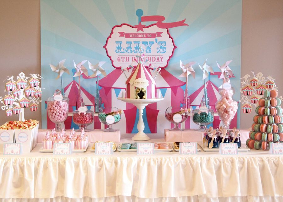 circus theme sweet table by Julesmcm on Cake Central