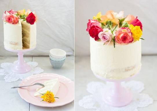 crumb coated naked cake via mbakes.com tres leches three milks cake