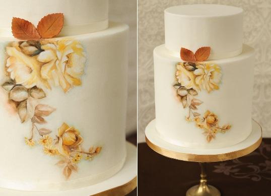 multi dimensional cake decorating Autumn cake with acorns by Ligia De Santis