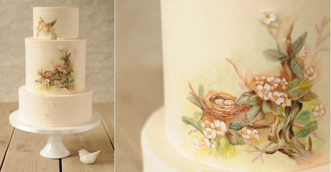multi dimensional cake decorating birds nest cake by Be Sweet Li