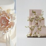 multi dimensional cake decorating by Cakes by Krishanthi via Brides Magazine left and by Lulu Cake Boutique right