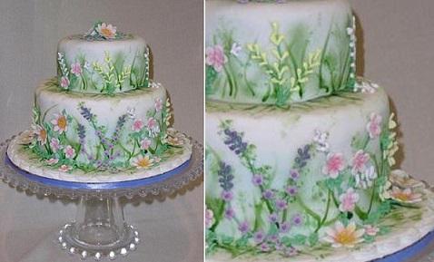 multi dimensional cake decorating spring garden by Cake Central contributor, Bobwonderbuns