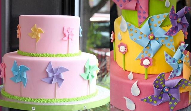 pinwheel birthday cakes