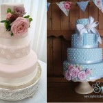 polka dot wedding cakes by Hall of Cakes UK left and Sophisticakes Falmouth,UK right