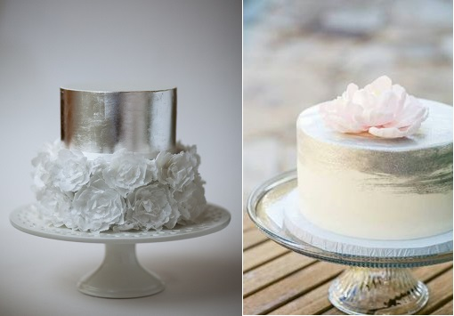 silver anniversary cake by Rouvelee's Creations left and by Sweet on Cake right, photo by Arnaldo Ilagan