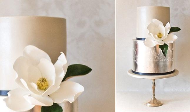 silver anniversary cake idea from Yummy Cakes & Cupcakes Australia