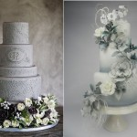 silver anniversary cakes by Ana Parsych left and by Cakes by Kim NL right
