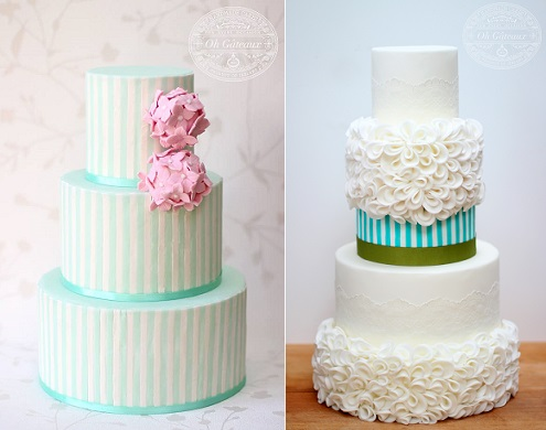 striped wedding cake designs by Oh Gateaux