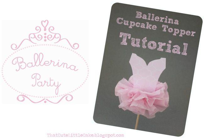 tutu cupcake topper tutorial from thatcutelittlecake .com