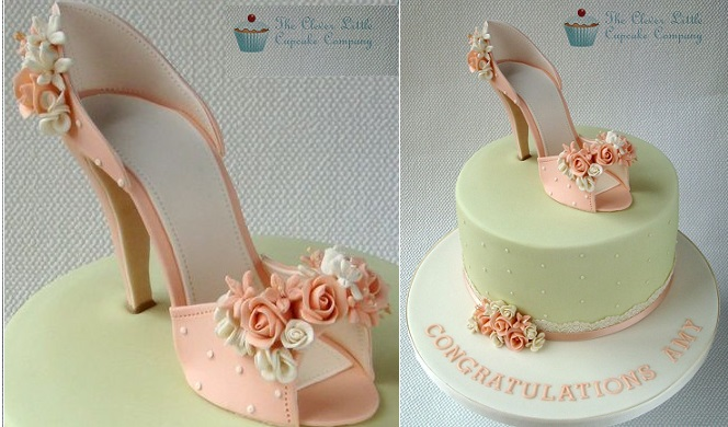 vintage high heel shoe cake by The Cute Little Cupcake Company