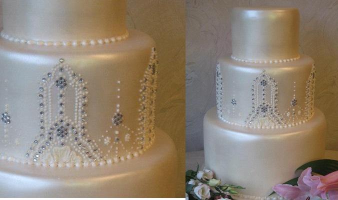 beaded cake by Lina Veber Cake Bakministeriet