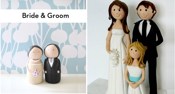 Bride-and-Groom-cake-topper-tutorials-by-Eat-Cake-Be-Merry-left-and-by-Verusca-Walker-right
