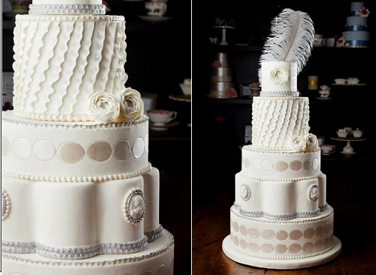 wedding cakes with frills asymmetrical amp vertical ruffles amp frills cake magazine 26033