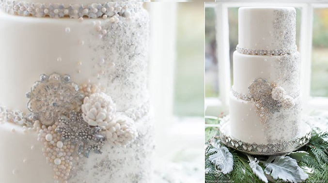 beaded cake design by Connie Cupcake Luxury Cakes, Krista Fox Photography