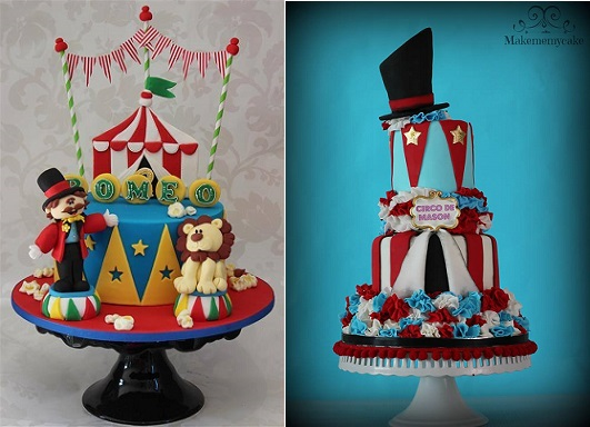 circus-cakes-by-Cake-by-Kim-NL-left-and-Make Me My Cake-right