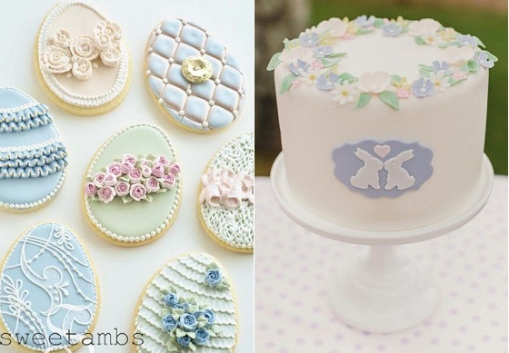 easter egg cookies vintage by Sweet Ambs and easter cake by Piccoli Elfi.it