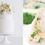 peach wedding cakes rustic by Faye Cahill left and image right by Lucy Leonardi