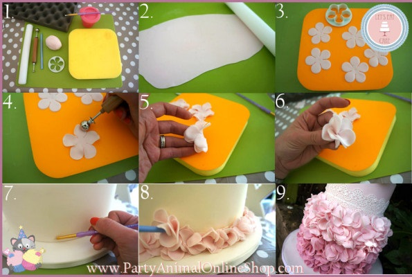 rose petal wedding cake tutorial ruffle wedding cakes petal ruffles cake magazine 19303