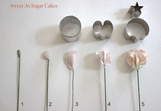 sweet pea tutorial sugar flower tutorial by Sweet As Sugar Cakes
