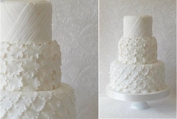 wedding dress inspired cake by Abigail Bloom Cake Design