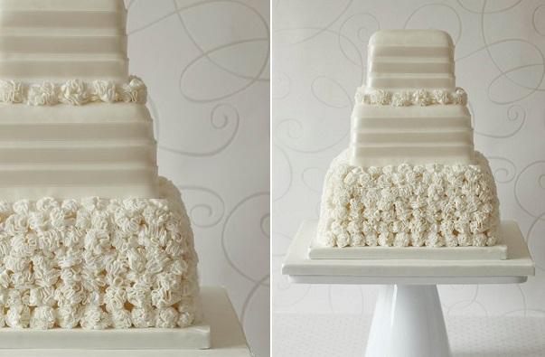 wedding dress inspired cake by Abigail Bloom Cake Designer