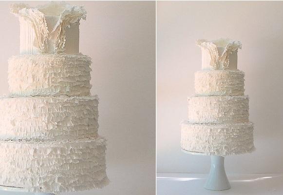 wedding dress inspired cake by Maggie Austin Cake