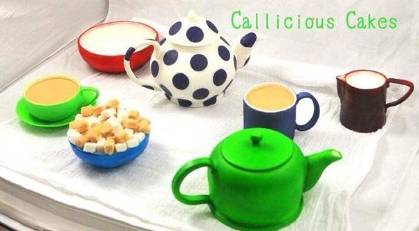 teapot cake by Callicious Cakes