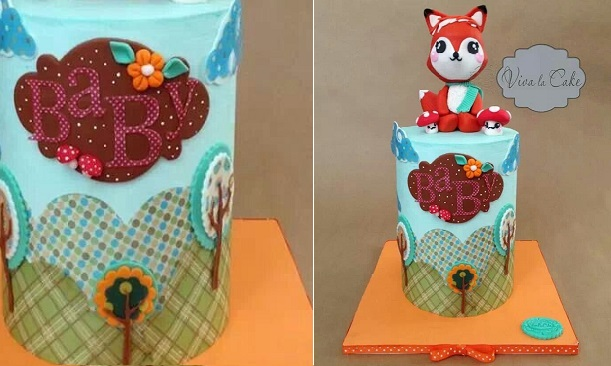 baby animal cake by Viva La Cake
