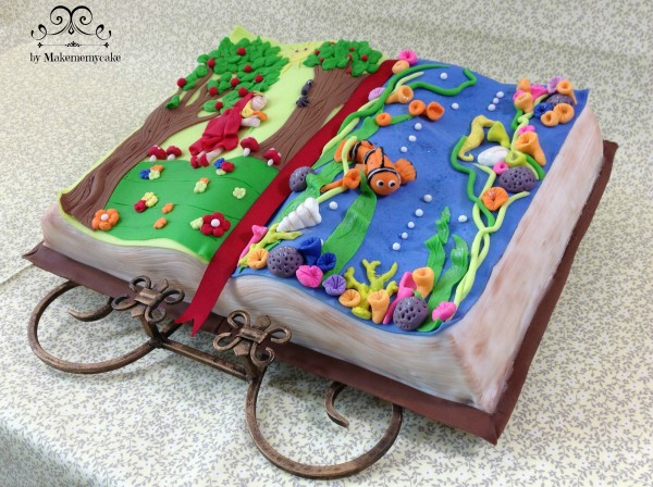 open book cake by Make Me My Cake