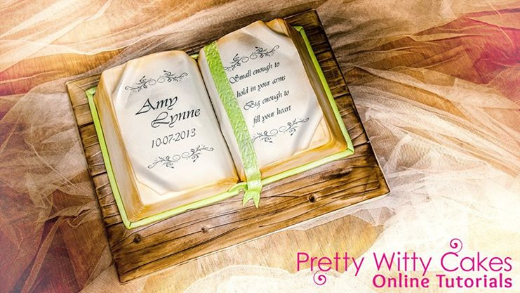 open book cake tutorial via Pretty Witty Cakes tutorial by Alice Cakes