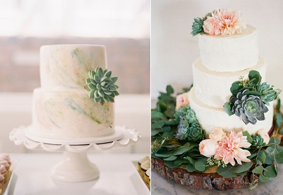 wedding cake decorated with succulents gumpaste succulent tutorials cake magazine 22367