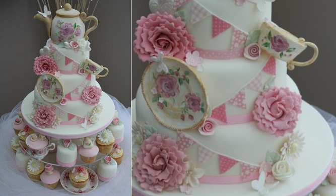 teapot cake by Katie's Cupcakes