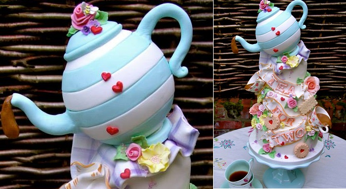 teapot cake by Lynette Horner of Nice Icing