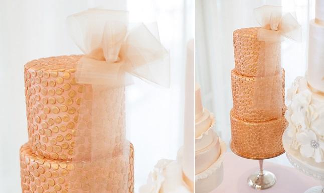 tulle wedding cake by Blissfully Sweet Cakes Lundberg Photography via Polka Dot Bride