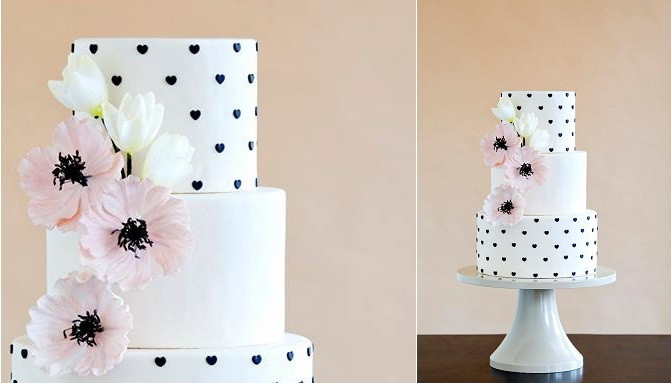 wafer paper tulips and hearts by The Wild Orchid Baking Co.