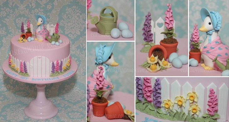 Beatrix Potter cake Jemima Puddle Duck by Cake Avenue