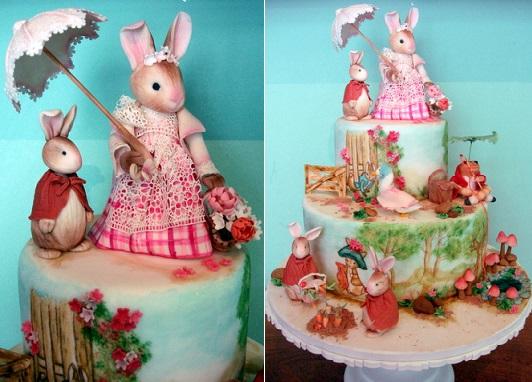 Beatrix Potter cake by Celina mattoso Bolos de Casamento
