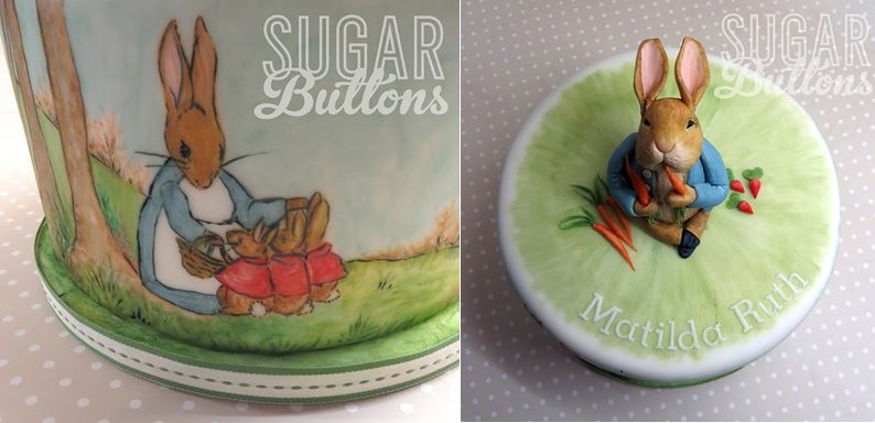 Peter Rabbit cake Beatrix Potter cake by Sugar Buttons