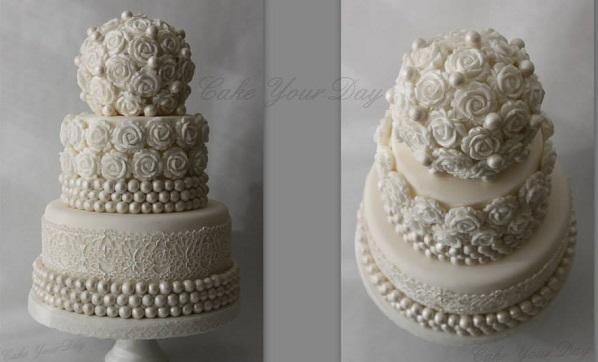Pomander wedding cake by Cake Your Day