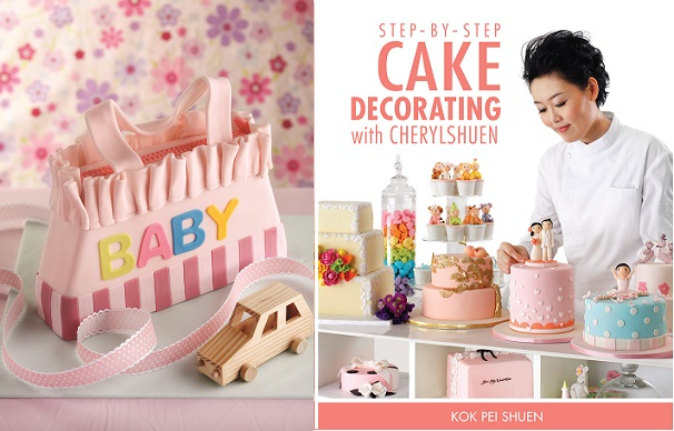 diaper bag cake tutorial from Step by Step Cake Decorating by CherylShuen