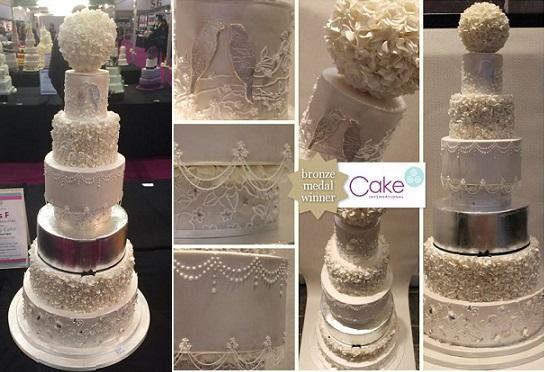 pomander cake topper wedding cake by Sugar Plum Cake Co UK