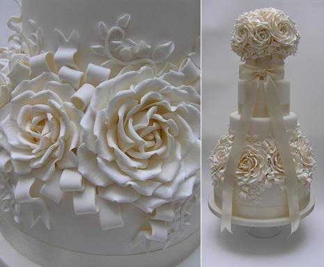 pomander wedding cake by Scrum Diddly Cakes